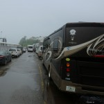 Many in the queue have been through this before, being full time RV-ers who spend half of each year in Alaska,  and have remarkable patience for the process.