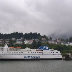 British Columbia also runs a ferry system, and this is one of their ships picking up passengers in Prince Rupert.