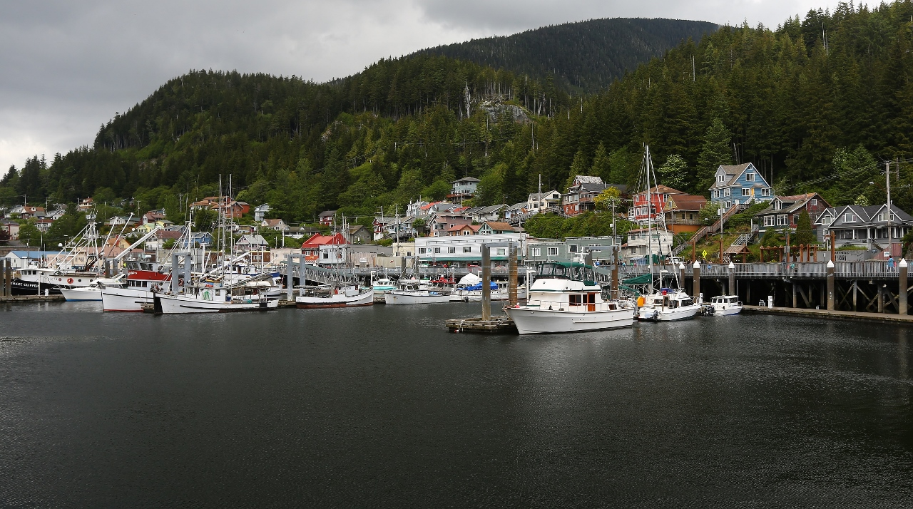 A view of Ketchikan harbor.