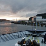 Approaching Ketchikan harbor.