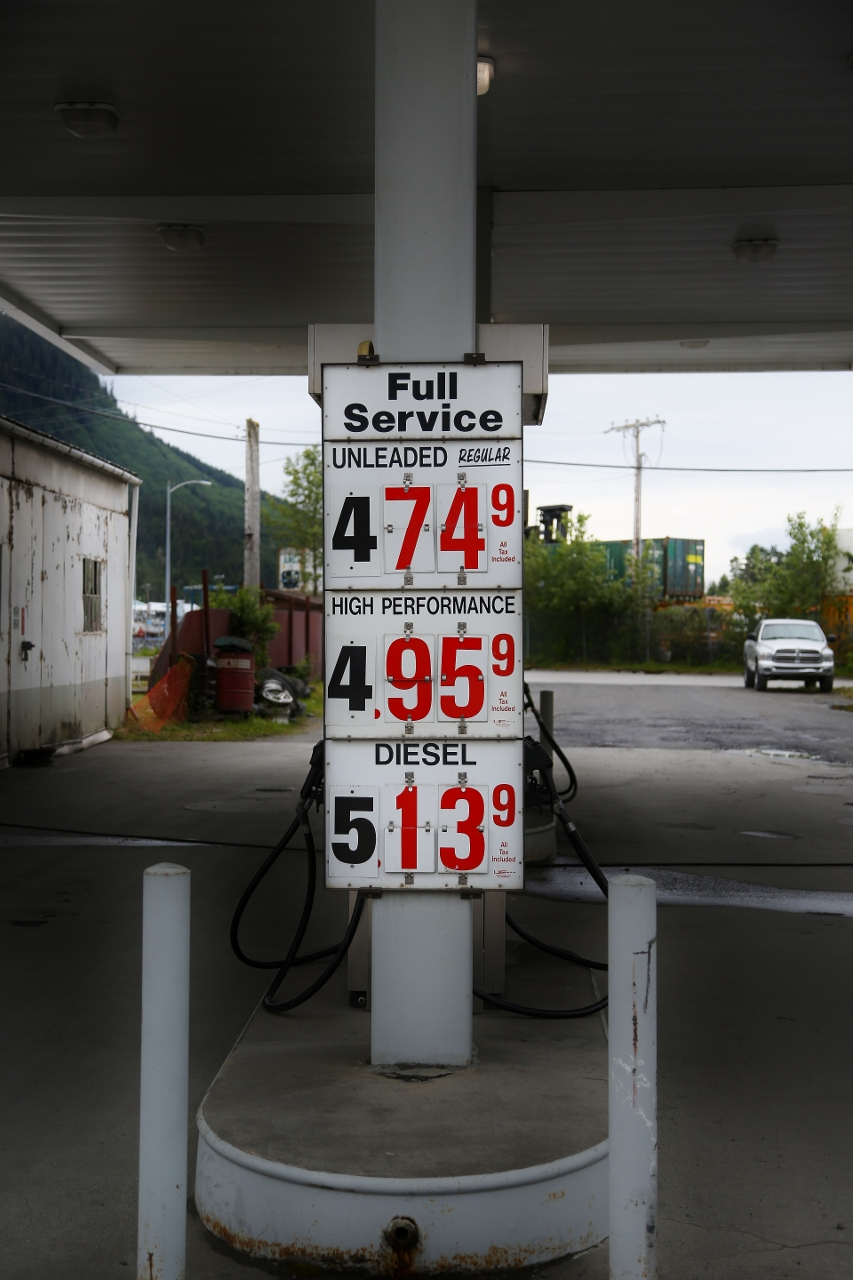 Everything, including gas, has to get here by plane or boat, and the prices reflect that.