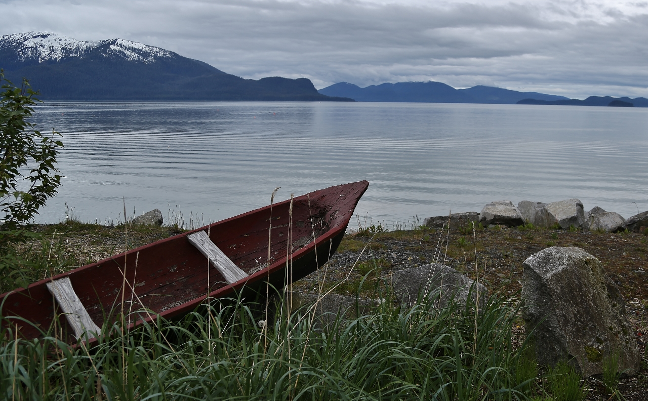 Just outside Wrangell harbor.