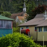 A typical Wrangell scene.  Pretty, on the one hand, but a bit rough around the edges.