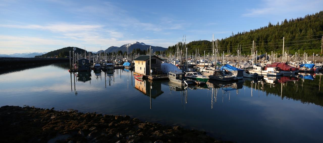 Wrangell harbor.