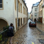 The beautiful cobblestone streets of centuries old Luxembourg