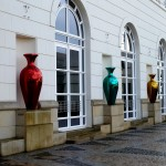 Sophisticated decoration on a newly renovated government office building in Luxembourg City