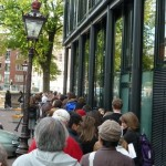 The waiting line for the Anne Frank House went around the block, people subdued and quite as we waited our turn