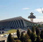 Eero Saarinen's famous design for the main terminal at Dulles International