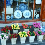 Two Holland staples:  Tulips and Delftware